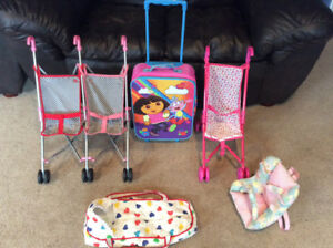 Baby Strollers, baby carrier, baby backpack, Dora suitcase