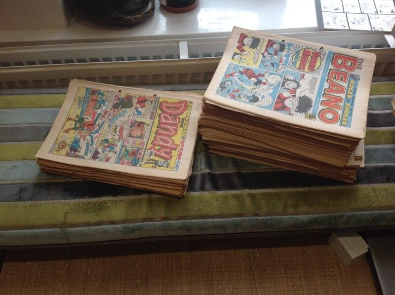 120 Vintage Beano & Dandy comics from 1986-91