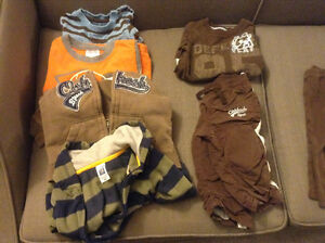 Box of boy's 12 months fall/winter clothes