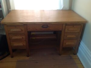 Oak Teacher Desk