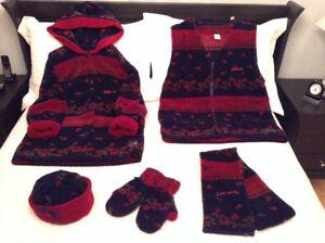 Manteau en polar et accessoires - 5 pièces - PRIX RÉDUIT!!!