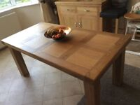 Ocean oak extending dining table and 6 chairs
