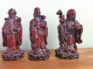 Chinese Statues - 3 Gods of Good Fortune