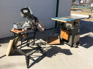 table saw and miter saw for sale