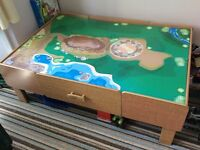 Childrens Wooden train play table