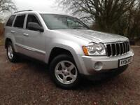Jeep Grand Cherokee 3.0CRD V6 diesel auto Limited 2006, GENUINE LOW MILES 94,000