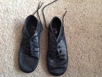 Starlite Black Effect Split Sole Jazz Shoe Size 10 1/2