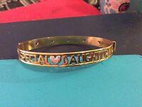 Rolled gold special daughter bracelet