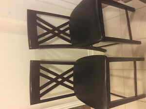 Moving Sale - 2X Bar Stools, 1X Faux Leather Sofa and Love Seat