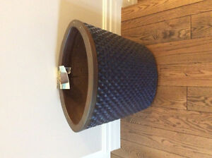 "Solid ceramic planter  blue in colour 20"" high by 20"" wide"