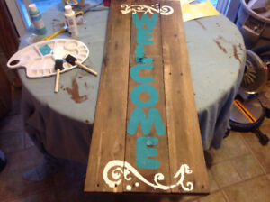 Handcrafted Pained Sign Reclaimed Pallets
