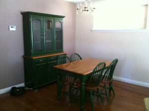 Dining Set - Table, 4 chairs and Hutch