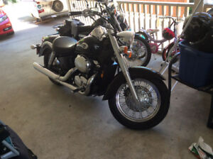 Mint condition. Brand new tires front and back Honda shadow