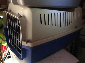 """DOG CARRIER - 21""""long x14""""wide x 13""""Hi - GOOD SOLID CONDITION"""