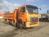 HINO 700 324i 8X4 TIPPER 2008/08 THOMPSON BODY REV CAMERA