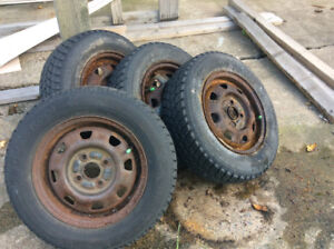 4 used winter tires