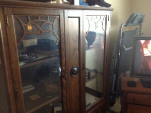 100+ years old China cabinet from Pepplar co.  S. Ontario