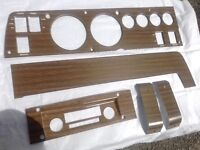 Wood grain dash bezel kit
