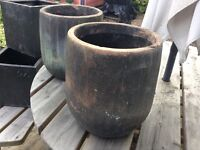 """Garden planters round x 2 12""""X11"""" diameter"""