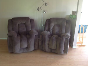 2 Ashley wall hugger recliners