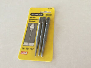 3 PIECE STANLEY NAIL SET; never opened; $5.00; 250-300-5108.