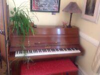 Schriber upright piano 105 keys plus duet stool