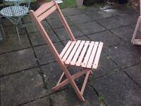 Vintage/Shabby Chic Wooden Folding Garden Chair