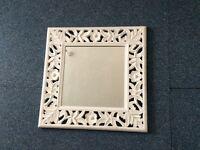 White shabby chic mirror