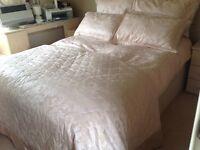 Dusky pink bedspread