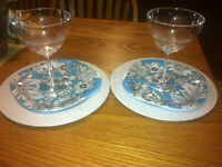 Unused beautiful outdoor dishware