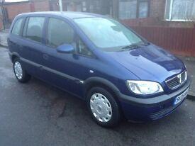 Vauxhall Zafira 1.6 full mot 05 reg 7 seater
