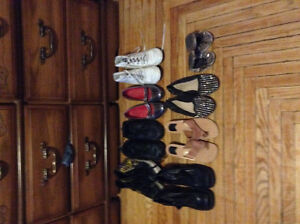 Shoes for sale, $5 per pair. Variance sizes, mostly 7.5-8 woman