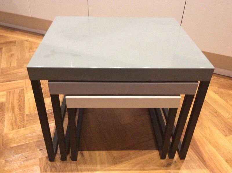 habitat kilo metal nest of tables grey set in bristol city centre bristol gumtree. Black Bedroom Furniture Sets. Home Design Ideas