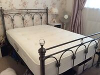 Lovely standard size double bed and mattress