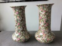 A PAIR of DUCAL CROWN WARE VASES