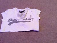 Ladies white g star v t shirt