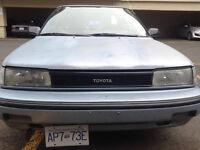 1991 Toyota Corolla need nothing 1500 obo