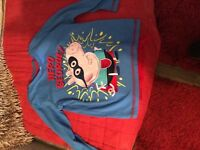 Boys George pig cape long sleeve t- shirt age 4/5