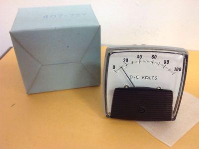 Vintage Electronic 0-100 D-c Volt Meter