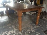 Farmhouse solid wooden table