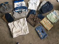 Bundle of boys 6-9 months baby clothes