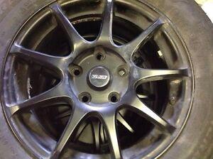 Custom Specialty Matte Black Rims and Brand New Summer Tires St. John's Newfoundland image 2