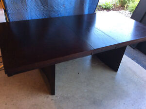 Table dining 6-8ppl/w leaf L-85.5 inch,W-41 3/4,H 30 inches