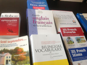 Brand new French grammar and translation books