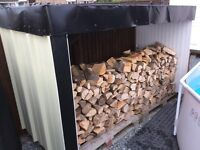 Log shed and its contents