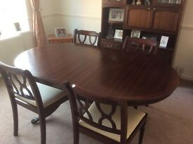 Extendable mahogany dining room table