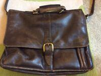 Hide design leather bag/briefcase