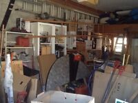 Full content of  double size garage , tools , building materials