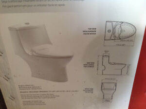 New in box one piece toilet