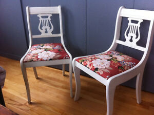 Upcycled antique shabby chic chairs
